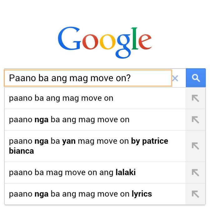 Google may Formula ba ang pag Move on?